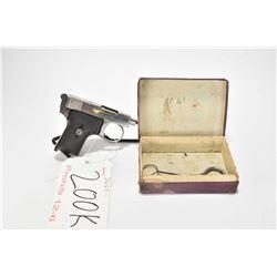 Prohib 12-6 handgun Webley & Scott model Vest Pocket 1907, 6.35mm 6 shot semi automatic, w/ bbl leng