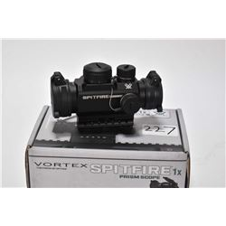 Vortex Spitfire 1X Prism scope with red and green illumination, new or near new in box