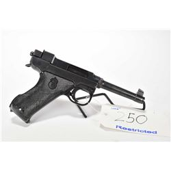 Restricted handgun Lahti Husqvarna model M40, 9mm Luger mag fed. 8 shots semi automatic, w/ bbl leng