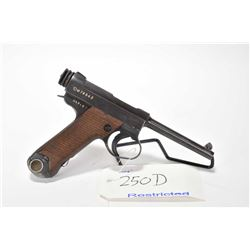 Restricted handgun Nambu model Type 14, 8mm mag fed. 8 shot semi automatic, w/ bbl length 114mm [Blu
