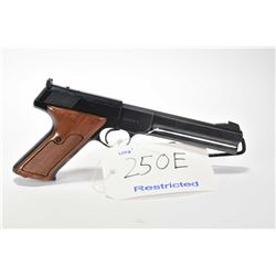 Restricted handgun Colt model Woodsman Match Target, 22 LR mag fed. 10 semi automatic, w/ bbl length