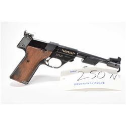 Restricted handgun High Standard model Olympic, .22 Short 10 shot semi automatic, w/ bbl length 172m
