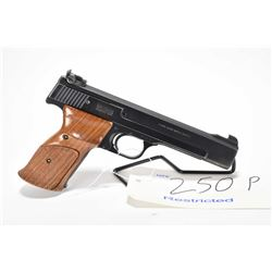 Restricted handgun Smith & Wesson model 41, .22 LR 10 shot semi automatic, w/ bbl length 140mm [Blue