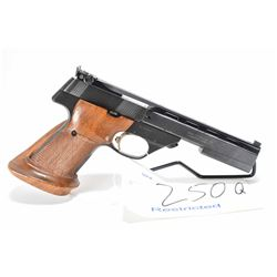 Restricted handgun High Standard model The Victor, .22 LR 10 shot semi automatic, w/ bbl length 140m