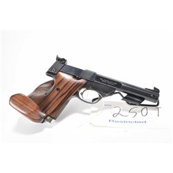 Restricted handgun High Standard model Supermatic Citation, .22 LR 10 shot semi automatic, w/ bbl le
