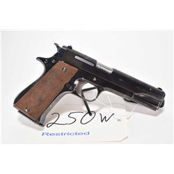 Restricted handgun Star model MB, 9mm Luger 8 shot semi automatic, w/ bbl length 127mm [Blued finish