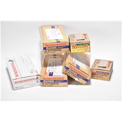 Six full boxes of ammunition including three 50 count boxes of Winchester Ranger .45 ACP, Winchester