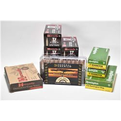 Selection of ammunition including full boxes of 20 count Hornady 400 grain 416 Rem, 20 count Remingt