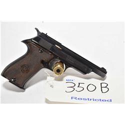 Restricted handgun Star model FR, .22 LR mag fed. 10 shot semi automatic, w/ bbl length 108mm [Blued