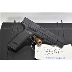 Restricted handgun Springfield Armory model XD-45 Tactical, .45 ACP Mag fed. 10 shot semi automatic,