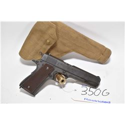 Restricted handgun Colt model 1911A1, .45ACP cal mag fed 7 shot semi automatic, w/ bbl length 127mm
