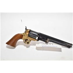 Restricted handgun Uberti model 1871 Navy, .36 cal percussion 6 shot single action revolver, w/ bbl