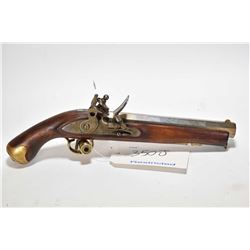 Restricted handgun Unknown model Flintlock, .69 cal single shot flintlock, w/ bbl length 222mm [Japa