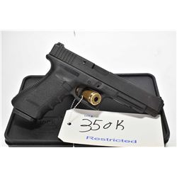 Restricted handgun Glock model 34, 9mm Mag fed. 10 shot semi automatic, w/ bbl length 135mm [Parkeri