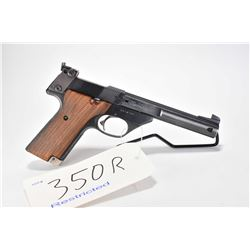 Restricted handgun High Standard model Supermatic Citation, .22 LR 10 shot semi automatic, w/ bbl le