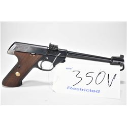 Restricted handgun High Standard model Supermatic Citation 103, .22 LR 10 semi automatic, w/ bbl len