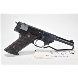 Restricted handgun High Standard model G 380, .380 Auto cal. 6 shot semi automatic, w/ bbl length 12