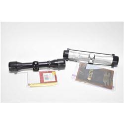 Two scopes including Bushnell 2-6X32 Elite handgun and Swift SR661M pistol scope