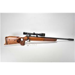 Non-Restricted rifle Walther model KK Match, .22LR cal single shot bolt action, w/ bbl length 23 1/3