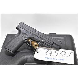 Restricted handgun Springfield Armory model XD-40 Tactical, .40 S&W cal. mag fed 10 semi automatic,
