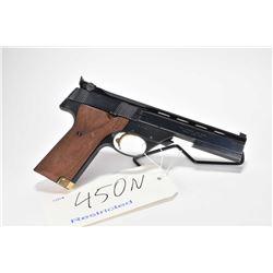 Restricted handgun High Standard model The Victor, .22 LR 10 shot semi automatic, w/ bbl length 140m