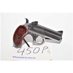 "Restricted handgun Bond Arms model Snake Slayer IV, .450 Colt/410 3"" 2 shot hinge break, w/ bbl leng"