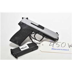 Restricted handgun H&K model USP, 9mm 10 shot semi automatic, w/ bbl length 108mm [Stainless slide a