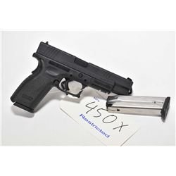 Restricted handgun Springfield Armory model XD-40 Tactical, .40 S&W 10 shot semi automatic, w/ bbl l