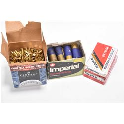 Selection of ammunition including opened but mostly full Value Pack 525 count (when full) of Federal