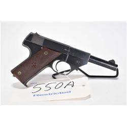 Restricted handgun High Standard model GB, .22 LR 10 semi automatic, w/ bbl length 114mm [Blued fini
