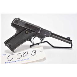 Restricted handgun High Standard model B, .22 LR 10 semi automatic, w/ bbl length 114mm [Blued finis