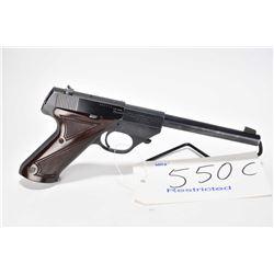 Restricted handgun High Standard model Flite King, .22 short cal 10 semi automatic, w/ bbl length 17