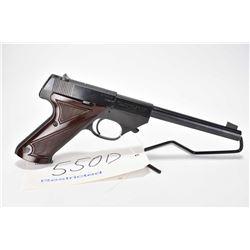 Restricted handgun High Standard model Sport KIng SK-100, .22 LR 10 semi automatic, w/ bbl length 17