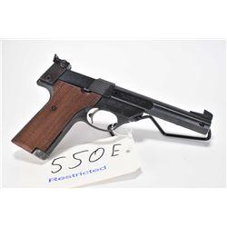 Restricted handgun High Standard model Supermatic Citation, .22 LR 10 semi automatic, w/ bbl length