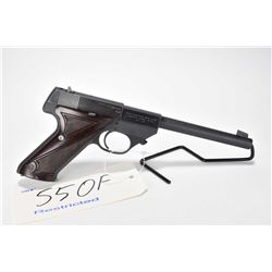 Restricted handgun High Standard model Sport-King Sk-100, .22 LR 10 shot semi automatic, w/ bbl leng