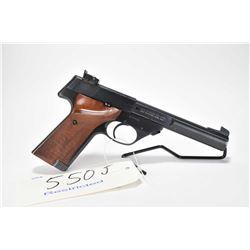 Restricted handgun High Standard model The Sharpshooter, .22 LR 10 shot semi automatic, w/ bbl lengt