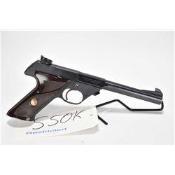 Restricted handgun High Standard model Supermatic Tournament 103, .22 LR 10 semi automatic, w/ bbl l