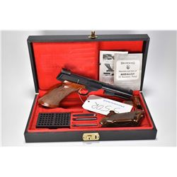 Restricted handgun Browning model Medalist, .22 LR 10 shot semi automatic, w/ bbl length 172mm [Blue