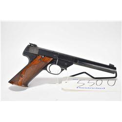 Restricted handgun High Standard model GE, .22 LR 10 shot semi automatic, w/ bbl length 172mm [Blued