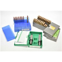 Approximately 70 rounds of .425 Express reloads and a set of RCBS .425 Express dies.
