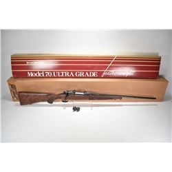 Non-Restricted rifle Winchester model 70 Ultra Grade, .270 Win mag fed 3 shot bolt action, w/ bbl le