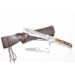 Two Puma knives including White Hunter 09RC 116375 with leather scabbard, a Four Star Mini pocket kn
