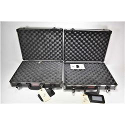 Two Winchester large sized hard pistol cases with foam lining in virtually unused condition.