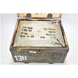 Full 1120 round case of surplus 7.62 X 39 (Stamped 7.6 X 43).