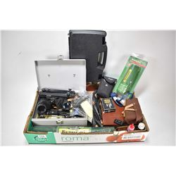 Selection of firearms accessories including Remington rust preventative super plug, cleaning kit, cl