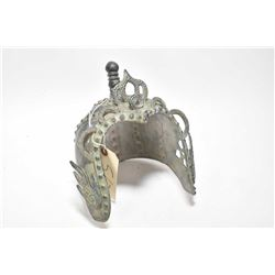Metal Tibetan helmet