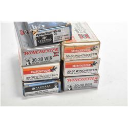 Seven full 20 count boxes 30-30 Win. ammunition including three boxes of Winchester Super X 170Gr, t
