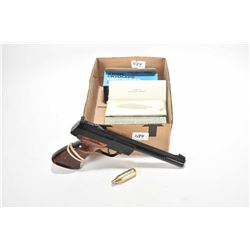 Crossman model 454, .177 cal BB pistol with four boxes (4 missing) of 24 count CO2 cartridges