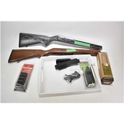 Selection of firearms accessories walnut Ruger Mini 14 stock, Deluxe Ruger 10/22 Bull barrel stock,