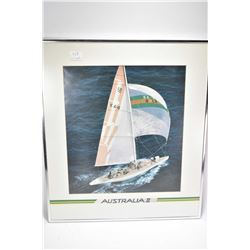 Four framed sailing pictures and selection of unframed aviation posters including Reno Air Races, ai